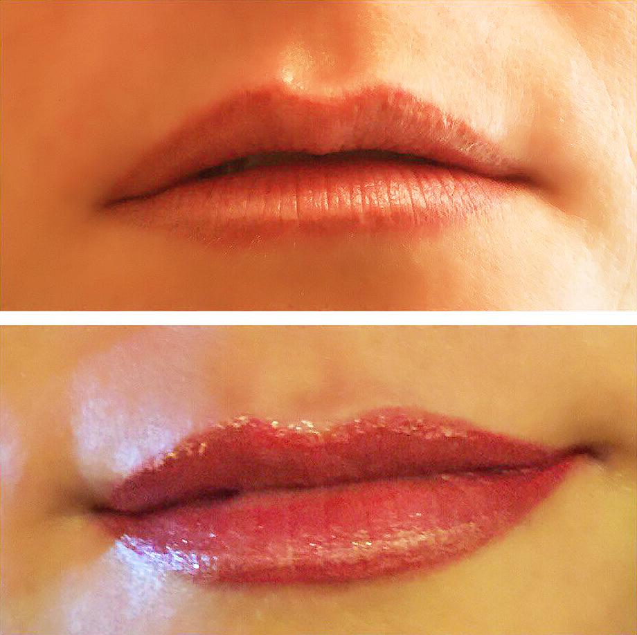 необычные татуаж губ фото до и после последствия размере ста